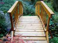 16ft. wooden arch bridge