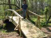 27 ft. wooden bridge